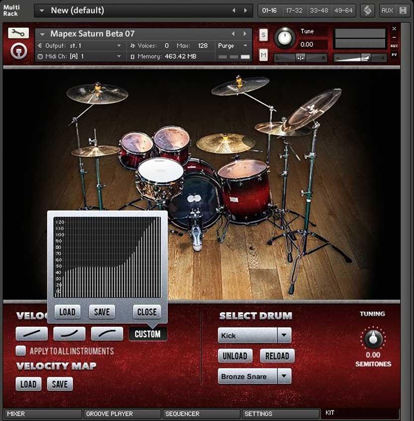 خرید اینترنتی وی اس تی درام هوی راک Drumdrops Mapex Heavy Rock Kit