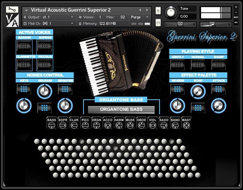 خرید اینترنتی وی اس تی آکاردئون Virtual Acoustic Guerrini Superior 2