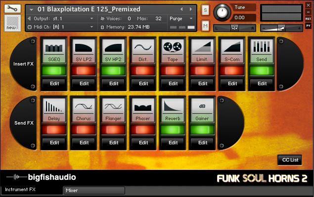 خرید اینترنتی لوپ سازهای برنجی مخصوص سبک فانک Big Fish Audio Funk Soul Horns 2