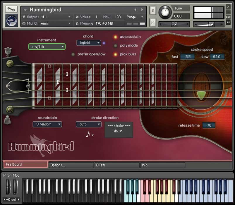 خرید اینترنتی وی اس تی گیتار آکوستیک گیبسون Prominy Hummingbird Acoustic Guitar