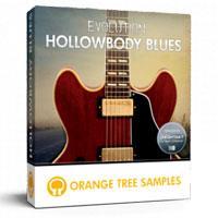 وی اس تی گیتار الکتریک سبک بلوز Orange Tree Samples Evolution Hollowbody Blues