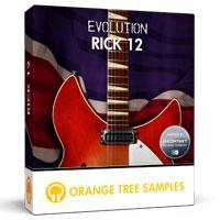 خرید اینترتی وی اس تی گیتار الکتریک 12 سیم Orange Tree Samples Evolution Rick 12