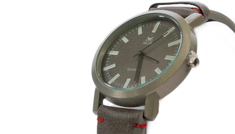 ساعت MGM مردانه رنگ خاکستری و قهوه ای