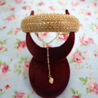 دستبند النگویی برنجی طرح طلا مدل 1