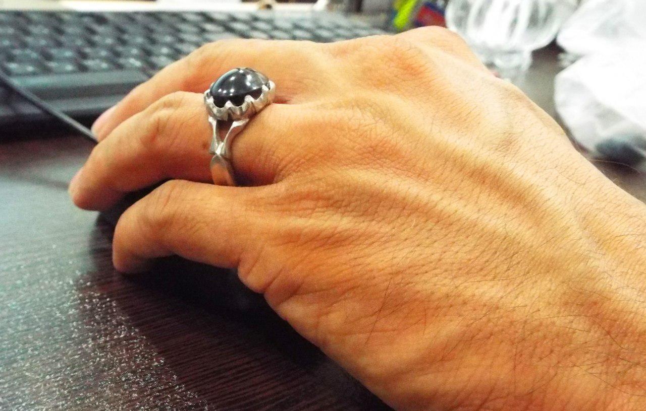 انگشتر عقیق سیاه
