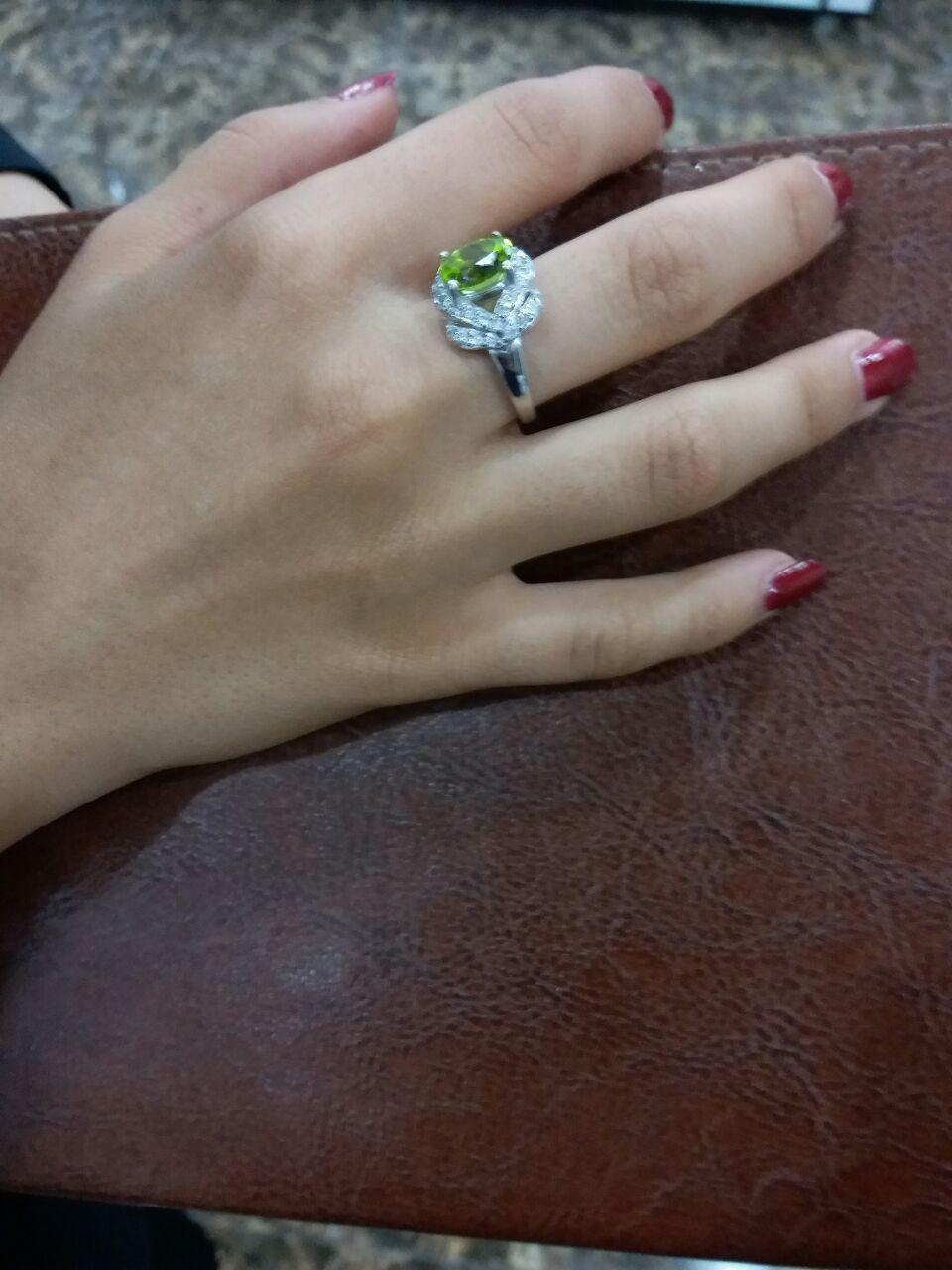 انگشتر زنانه زبرجد