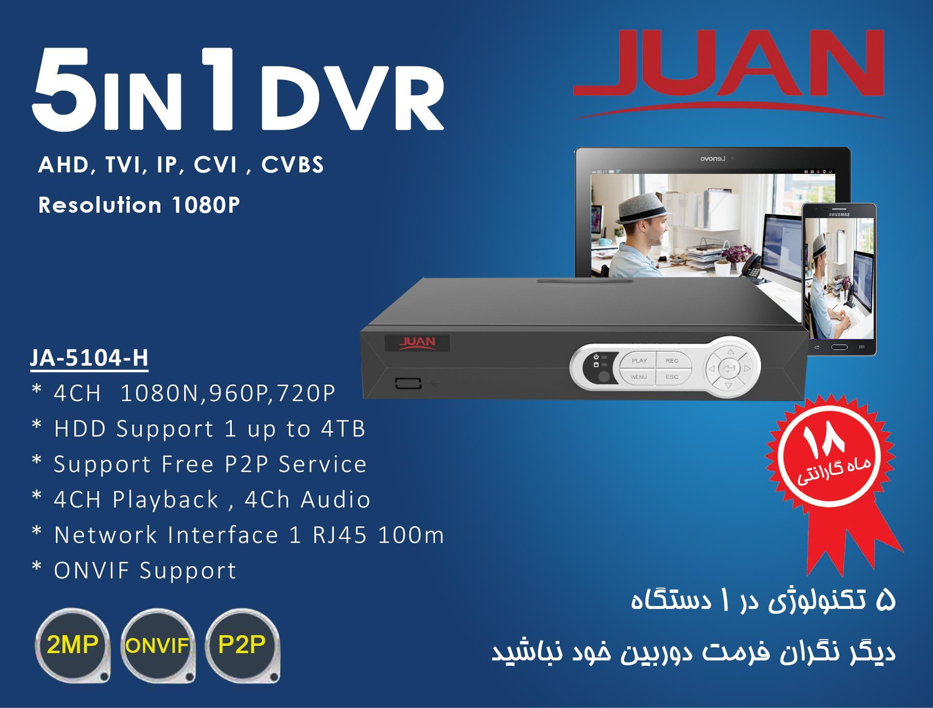 دستگاه ضبط تصاویر 5in1 برند JUAN