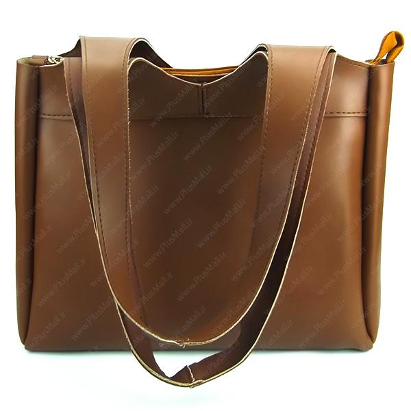 کیف زنانه بزرگ قهوه ای کد 602023