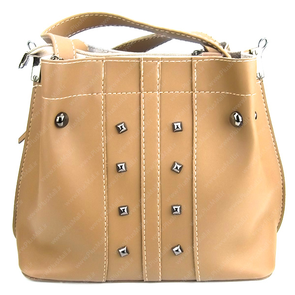 کیف بزرگ زنانه کرم کد 602107