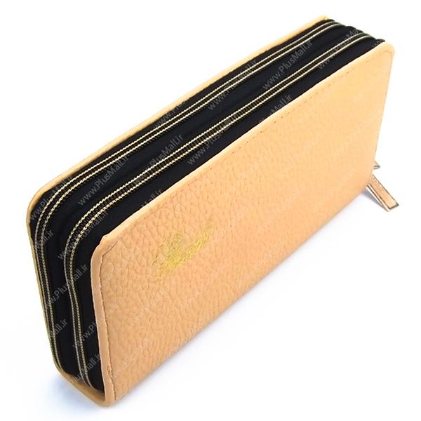 کیف پول زنانه زرد کد 603002