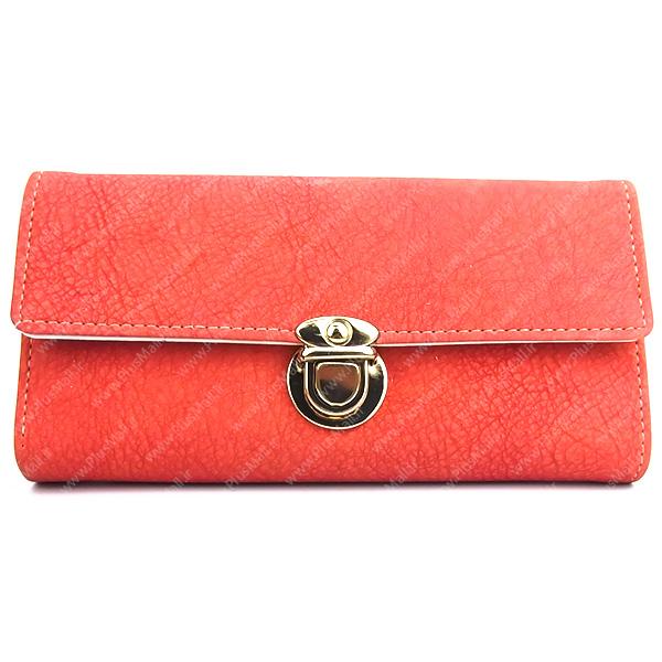 کیف پول زنانه نارنجی کد 603012