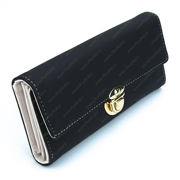 کیف پول زنانه مشکی کد 603013