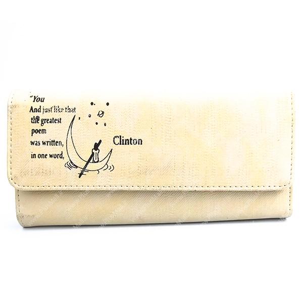 کیف پول زنانه کرمی کد 603019