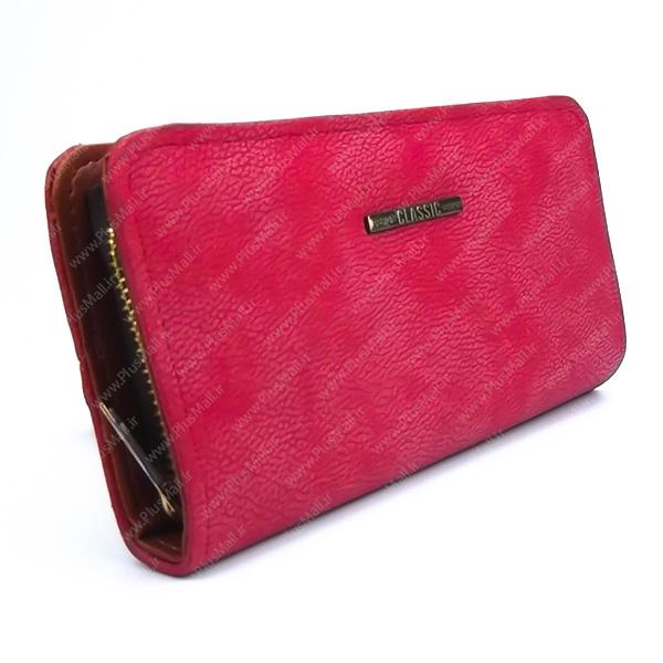 کیف پول زنانه قرمز کد 603021