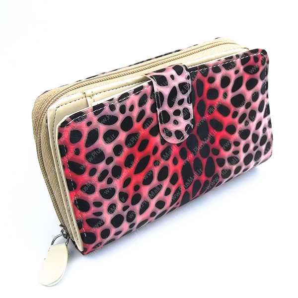 کیف پول زنانه پلنگی قرمز کد 603028