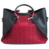 کیف بزرگ زنانه قرمز و مشکی کد 602114