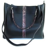کیف بزرگ زنانه مشکی کد 602124