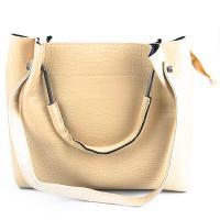 کیف بزرگ زنانه کرمی کد 602143