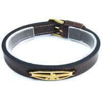 دستبند چرمی طرح فروهر DM980003