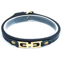 دستبند چرمی طرح دار DM980007