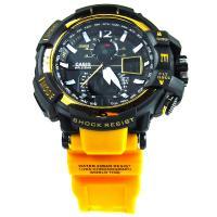 ساعت جی شاک مشکی بند زرد G Shock GS960227