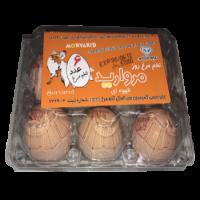تخم مرغ رسمی 2 زرده مروارید زرین شمال 6 عددی