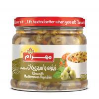 زیتون با سبزیجات مدیترانه ای320گرمی مهرام
