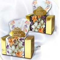 دستمال کاغذی گلریز گلدار طلایی و نقره ایی