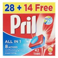 قرص ظرفشویی پریل مدل All In 1 بسته 42 عددی
