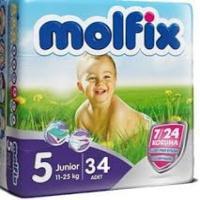 پوشک بجه مولفیکس 34 عددی سایز 5