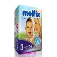 پوشک بچه مولفیکس 14  عددی سایز3 3