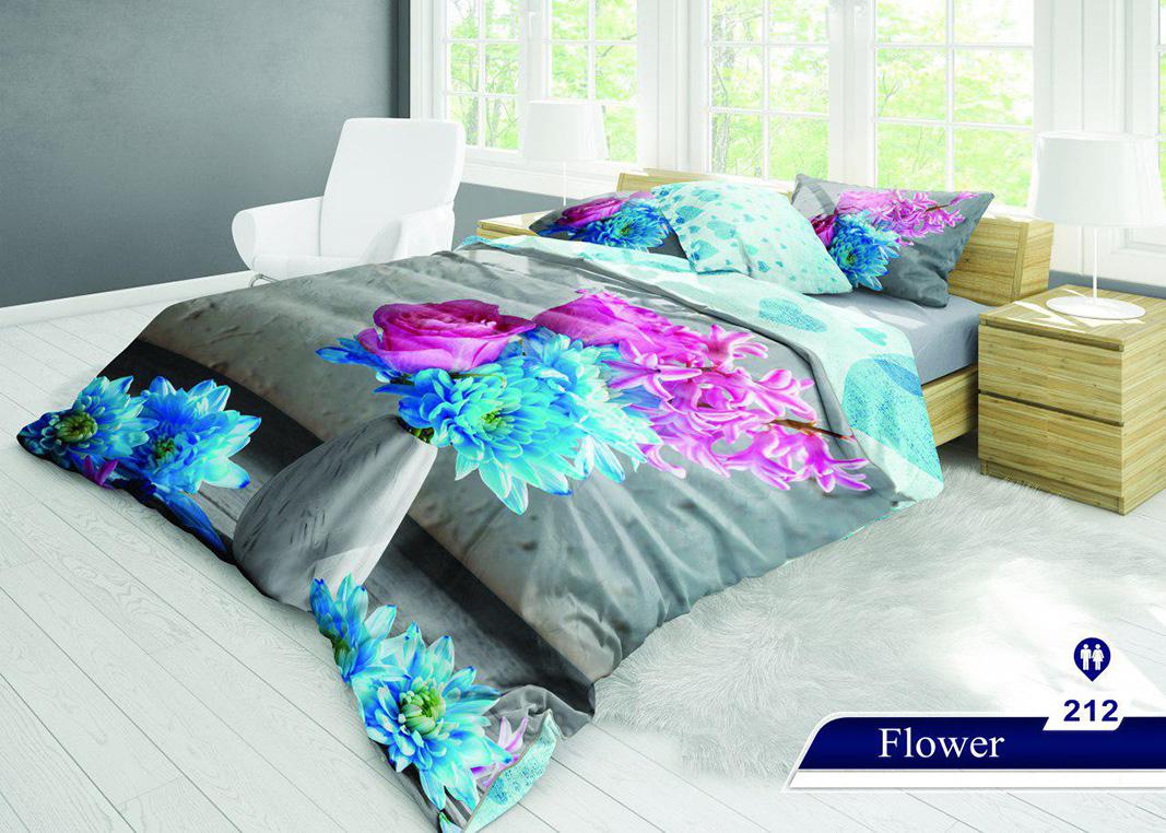 سرویس خواب دو نفره 6تکه سه بعدی Caren کد 212 طرح Flower