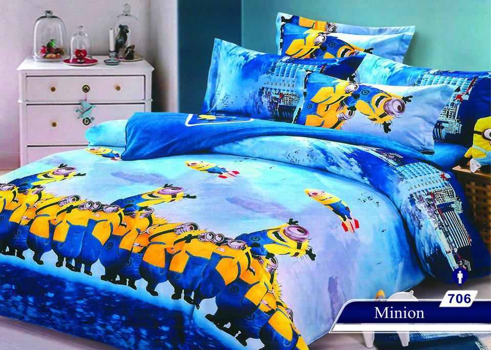 سرویس خواب یک نفره 4تکه عروسکی Caren کد 706 طرح Minion