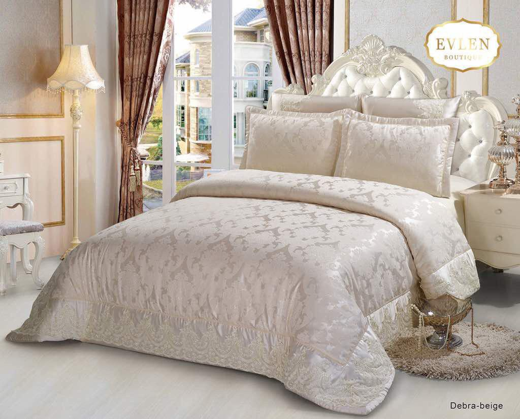سرویس خواب سلطنتی دو نفره 6تکه EVLEN طرح Debra