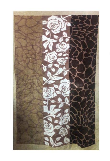 حوله حمامی پودایران طرح گل سنگ (150*90)