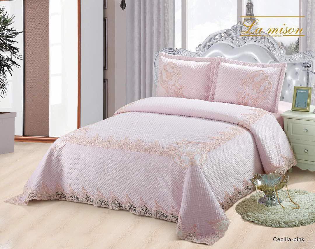 سرویس خواب سلطنتی دونفره 8 تکه La mison طرح Cecilia