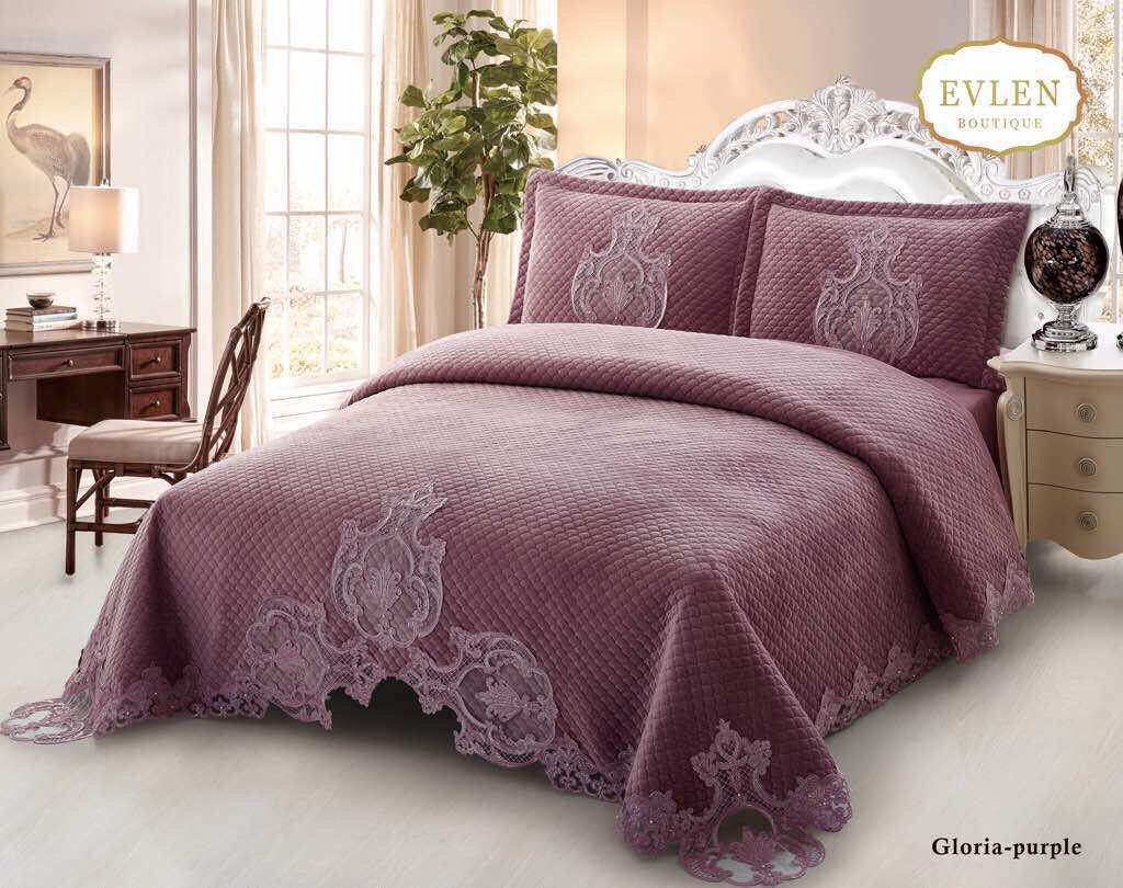 سرویس خواب سلطنتی دو نفره 6تکه EVLEN  طرح Gloria
