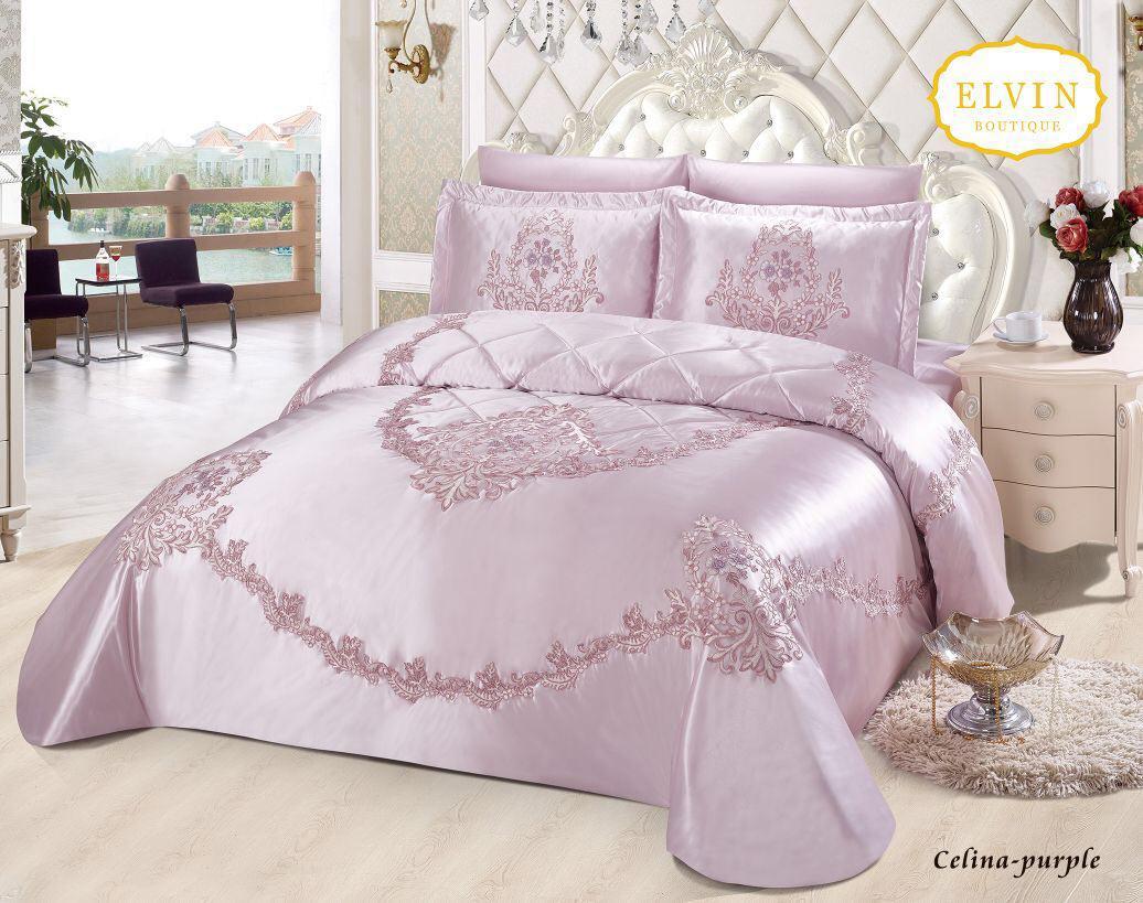 سرویس خواب سلطنتی دو نفره 8تکه ELVIN طرح Celina