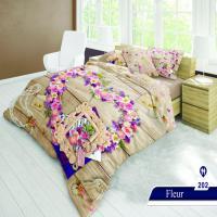 سرویس خواب دو نفره 6تکه سه بعدی Caren کد 202 طرح Fleur