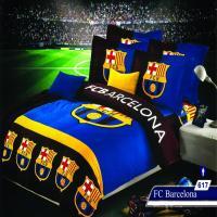 سرویس خواب یک نفره 4تکه عروسکی Caren کد 617 طرح FC Barcelona