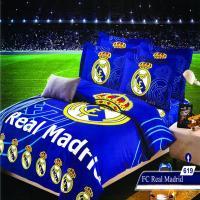 سرویس خواب یک نفره 4تکه عروسکی Caren کد 619 طرح FC Real Madrid