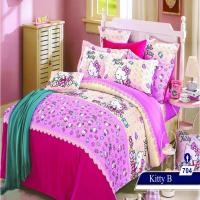 سرویس خواب یک نفره 4تکه عروسکی Caren کد 704 طرح Kitty B