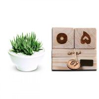 تقویم چوبی مکعب