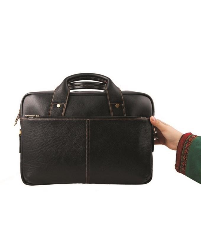 کیف اداری دو دسته چرم طبیعی