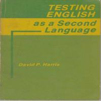 توضيحات کتاب testing English as a second language