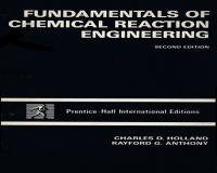 کتاب زبان اصلی Fundamentals of Chemical Reaction Engineering