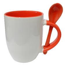 لیوان قاشق دار  داخل رنگی