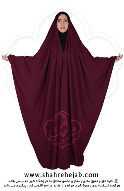 چادر جده عبایی شهر حجاب کد 01 رنگ زرشکی