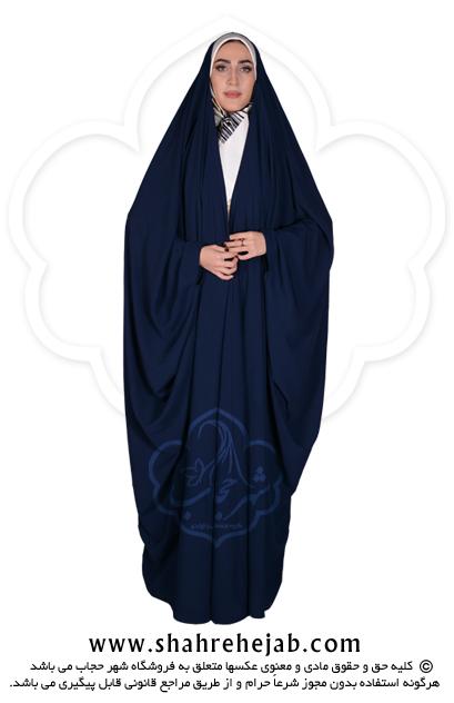چادر جده عبایی شهر حجاب کد 01 رنگ سورمه ای