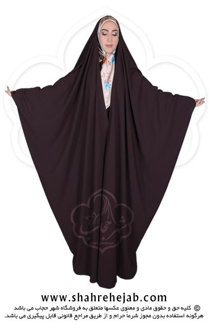 چادر جده عبایی شهر حجاب کد 01 رنگ قهوه ای